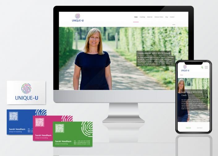 Webseite, Logo, Visitenkarten mit Veredelung